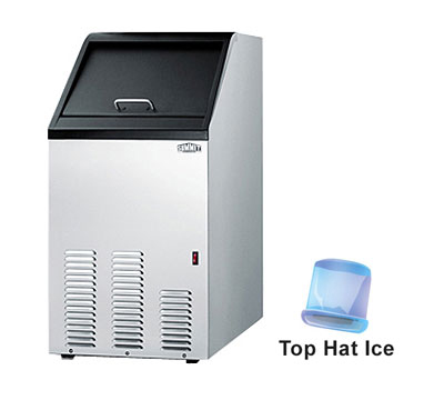 Summit Refrigeration BIM70 Bullet Style Undercounter Ice Maker - 65-lbs/24-hr & 25-lb Storage, 115v