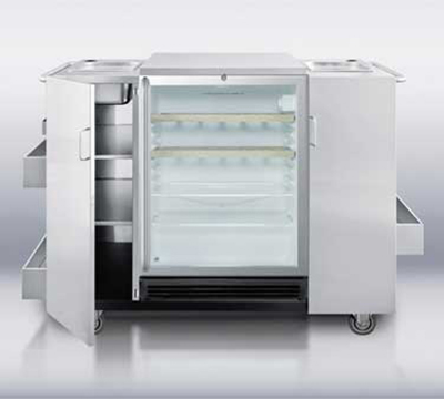 Summit Refrigeration CARTOSSCRRC Outdoor Refreshment Center w/ 2-Towel Bar Handles, Bottle Opener & Auto Defrost