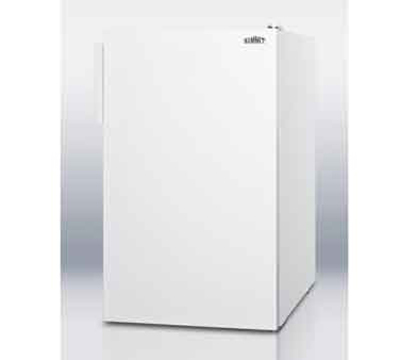 Summit Refrigeration CM4057 20-in Freestanding Refrigerator Freezer w/ Manual Defrost, 4.1-cu ft, White