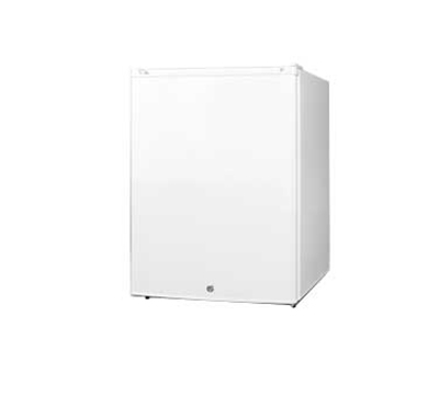 Summit Refrigeration FF32L Compact Refrigerator w/ Auto Defrost, Lock & Door Storage, 115v, White, 2.8-cu ft