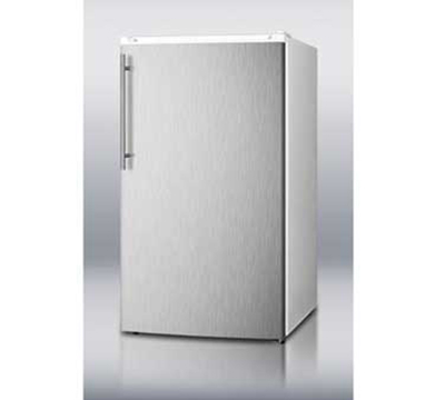 Summit Refrigeration FF41ESSSHV Refrigerator Freezer Combo w/ Stainless Door, Counter Height, 3.6-cu ft, Wh