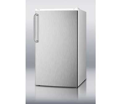 Summit Refrigeration FF41ESSSTB Refrigerator Freezer Combo w/ Counter Height & Auto Defrost, White/Stainless, 3.6-cu ft