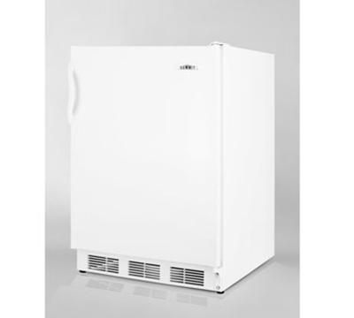 Summit Refrigeration FF7ADA Undercounter Refrigerator w/ 1-Section, Flat Liner & Auto Defrost, White, 5.5-cu ft, ADA