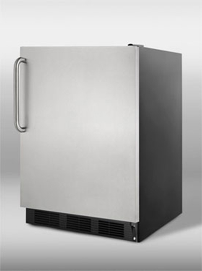Summit Refrigeration FF7BSSTB 5.5-cu ft Undercounter Refrigerator w/ (1) Section & (1) Door,