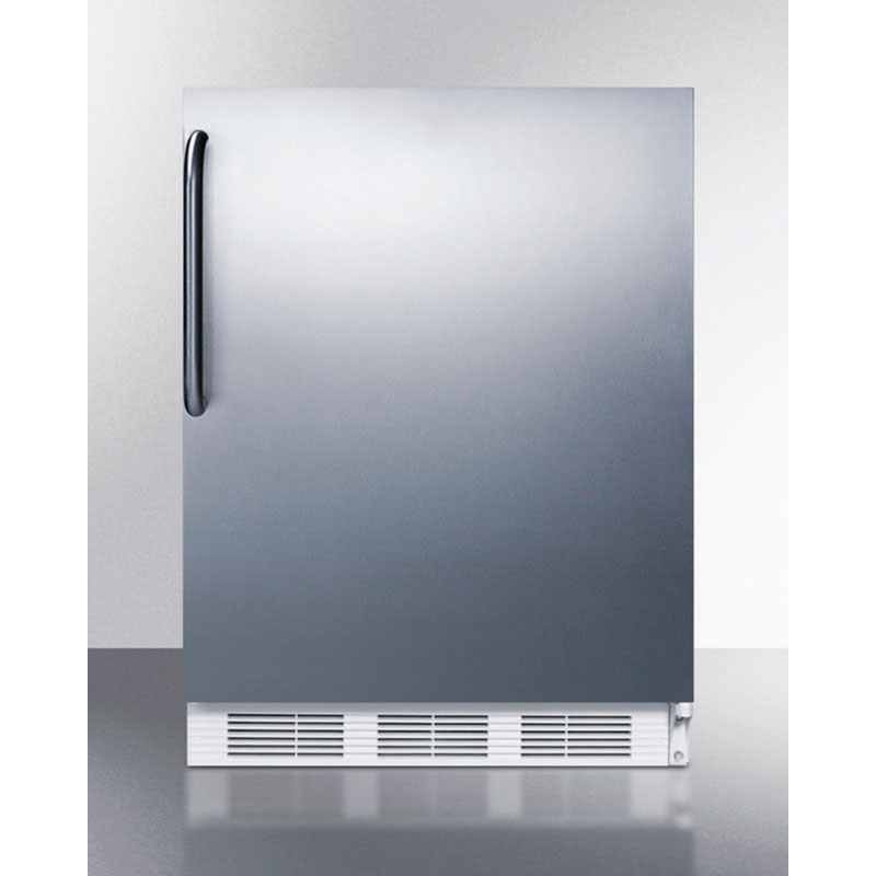 Summit Refrigeration FF7CSS Undercounter Refrigerator w/ 1-Section, Door Liner & Auto Defrost, Stainless, 5.5-cu ft