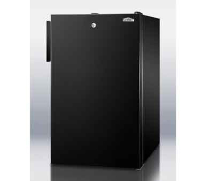 Summit Refrigeration FS408BL7 20-in Freestanding Undercounter Freezer w/ Lock, 2.8-cu ft, Black