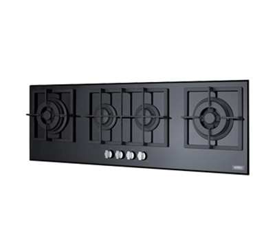 Summit Refrigeration GC443BGL Island Style Cook Top w/ 4-Sealed Burners, Electronic Spark Ignition, 41.63x13.5-in, Black