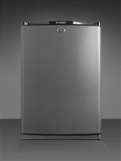 Summit Refrigeration MB24L Silent Hotel Minibar w/ 30-liter Capacity, Front Lock & Auto Defrost, Charcoal Grey