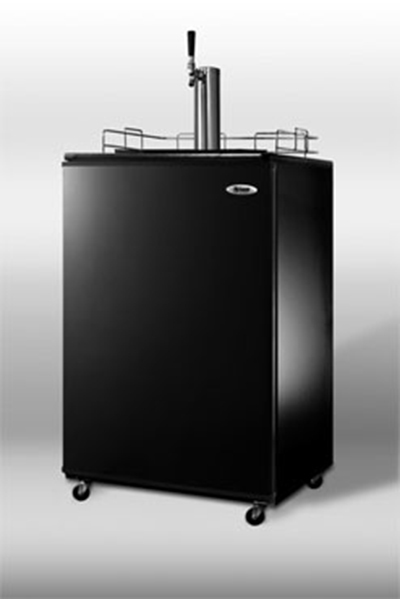 Summit Refrigeration SBC490 23.75-in Beer Dispenser w/ 1-Keg Capacity & Auto Defrost, 115v, Black/Stainless