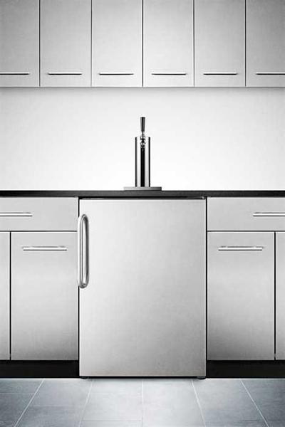Summit Refrigeration SBC490BISSTB 23.75-in Beer Dispenser w/ Auto Defrost, Adjustable Thermostat, Black
