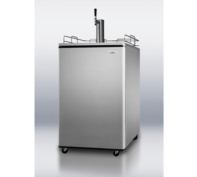 Summit Refrigeration SBC500SSST7 24-in Beer Dispenser w/ 1-Keg Capacity, Auto Defrost, Black