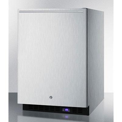 Summit Refrigeration SCFF51OSSSHH 4.9-cu ft Undercounter Freezer w