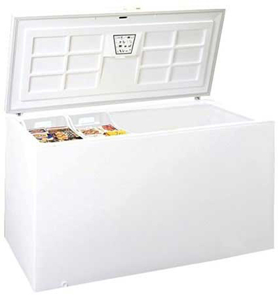 Summit Refrigeration SCFR220 Chest Refrigerator w/ Counter Balanced Hinges & Frost Free Defrost, White, 21.0-cu ft