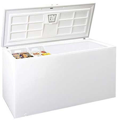 Summit Refrigeration SCFR250 Chest Refrigerator w/ Counter Balanced Hinges & Frost Free Defrost, White, 24.0-cu ft