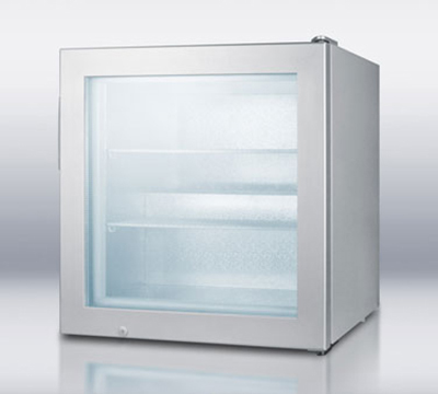 Summit Refrigeration SCFU386 Countertop Freezer Merchandiser - 1-Section, Manual Defrost, Platinum, 3-cu ft