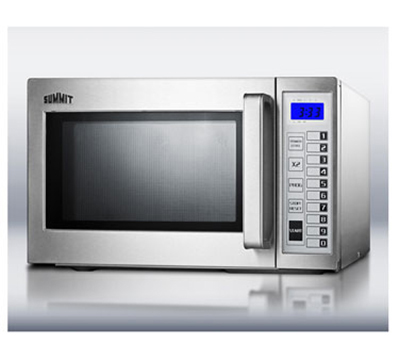 Summit Refrigeration SCM1000SS 1000w Commercial Microwave with Touch Pad, 115v