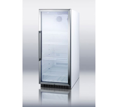 Summit Refrigeration SCR1155W Frost Free Upright Refrigerator w/ 1-Section, 4-She