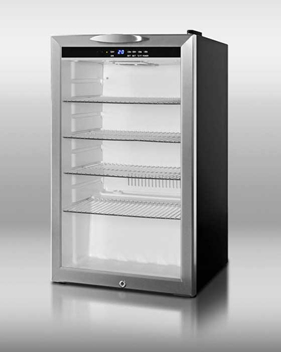 Summit Refrigeration SCR485L Beverage Merchandiser w/ 1-Section, Reversible Door Swing & Auto Defrost, Black, 4-cu ft