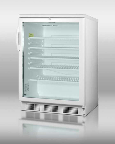 Summit Refrigeration SCR600L Beverage Merchandiser w/ Reversible Door Swing & Auto Defrost, White, 5.5-cu ft