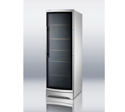 Summit Refrigeration SWC1735C Deluxe Wine Cellar w/ 120-Bottle Capacity, Temperature Display & Auto Defrost, Silver