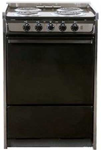 Summit Refrigeration TEM619R 24-in Range w/ Removable Top, Handle & Storage Under Oven, Black