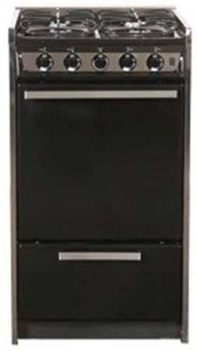 Summit Refrigeration TNM114R 20-in Range w/ Electric Ignition & Sealed Burners, Porcelain, Black/Sta