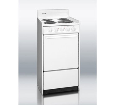 Summit Refrigeration WEM111 20-in Range w/ Removable Top, 1-Rack & Broiler In Oven, 220/1V, White