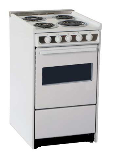 Summit Refrigeration WEM115RW 20-in Range w/ Removable Top, Storage & Broiler In Oven, 220/1V, White