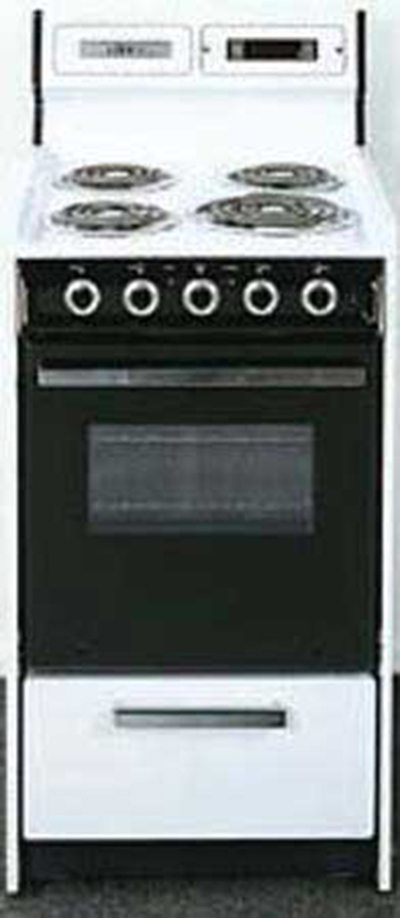 Summit Refrigeration WEM130DK 20-in Range w/ Removable Top, Digital Clock & Broiler In Oven, 220/