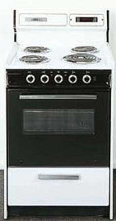 Summit Refrigeration WEM630DK 24-in Range w/ Removable Top, Digital Clock Timer & Oven Storage