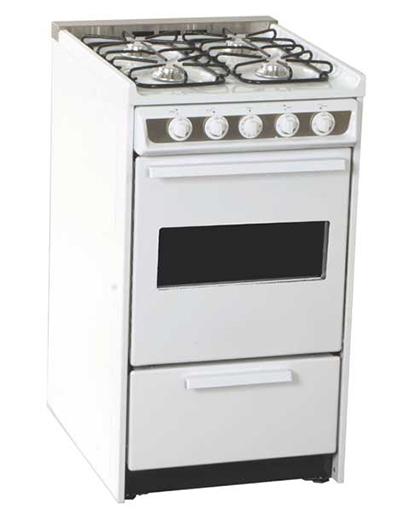 Summit Refrigeration WNM114RW 20-in Range w/ Electronic Ignition, Sealed Burners, White, 220/1V