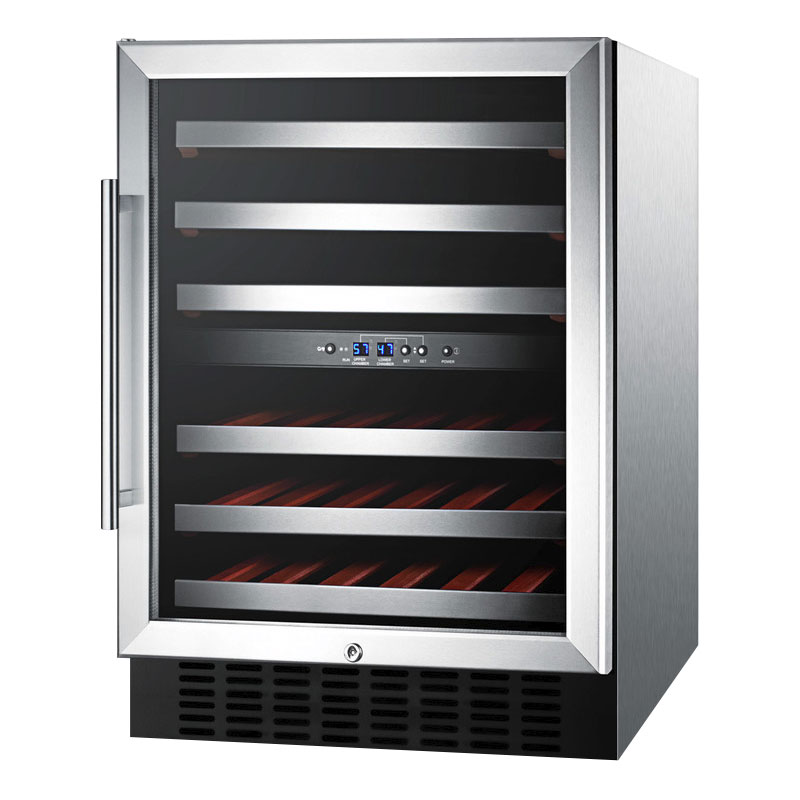 Summit Refrigeration SWC530LBISTADA Wine Cellar w/ 2-Zones,