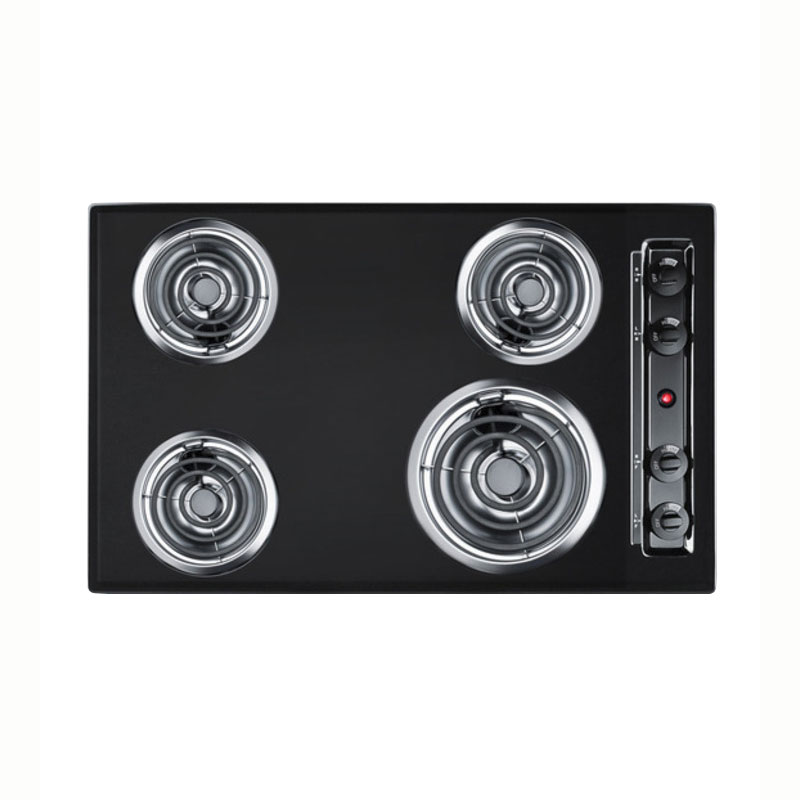 Summit Refrigeration TEL05 30-in Cooktop w/ 8-in Element & (3)6-in Coil Elements, Porcelain, 2