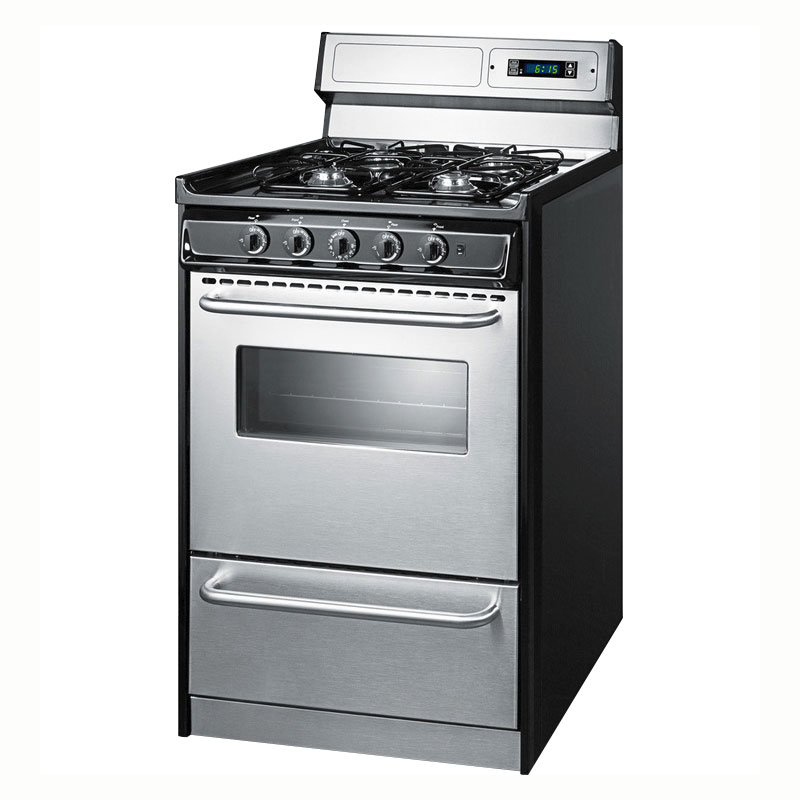 Summit TNM13027BFKWY Deluxe Gas Range 4 Burners Stainless Oven Restaurant Supply