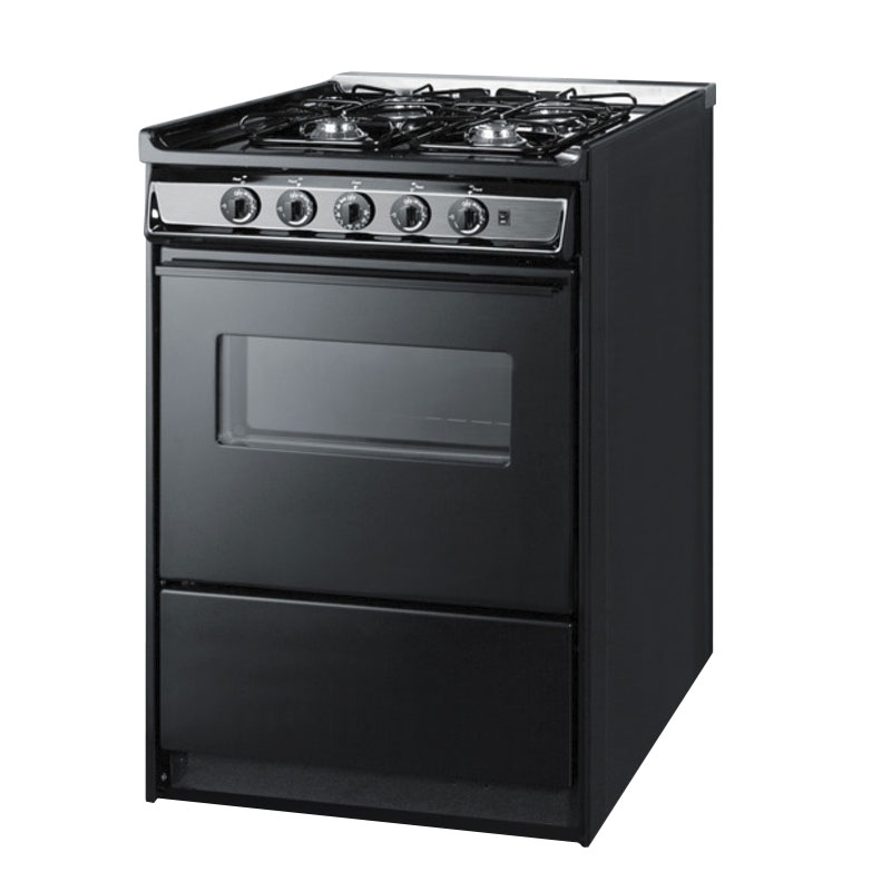Summit Refrigeration TNM616RW NG 24-in Range w/ Electric Ignition, Sealed Burners, Handle & Boile