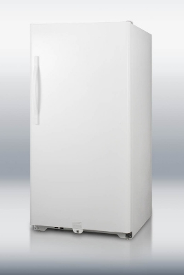 Summit Refrigeration UF17FF Frost Free Freezer w/ Front Lock, Reversible Door & Auto Light, White, 16.8-cu ft
