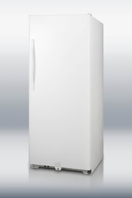 Summit Refrigeration UF21FF Frost Free Freezer w/ Front Lock, Reversible Door & Auto Light, White, 20.5-cu ft
