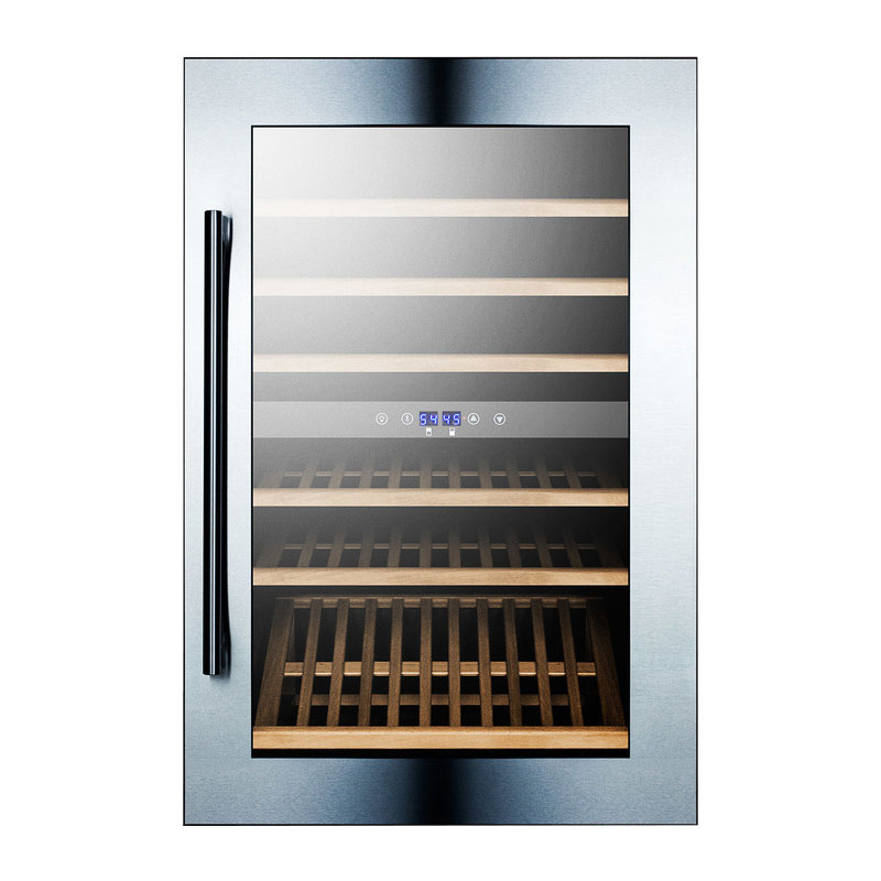Summit Refrigeration VC60D Wine Cellar w/ 59-Bottle Capacity & Professional Handle, Stainless