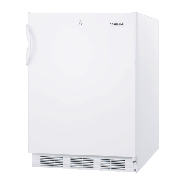 Summit Refrigeration VT65MLADA 24-in Medical Freezer w/ Manual Defrost & 3-Slide Out Basket Drawer, White, 3.5-cu ft, ADA