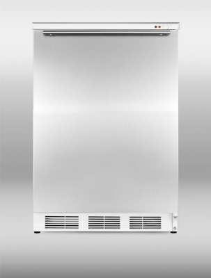 Summit Refrigeration VT65MLSSHH 24-in Freestanding Freezer w/ Manual Defrost & 3-Drawer, White/Stainless, 3.5-cu ft