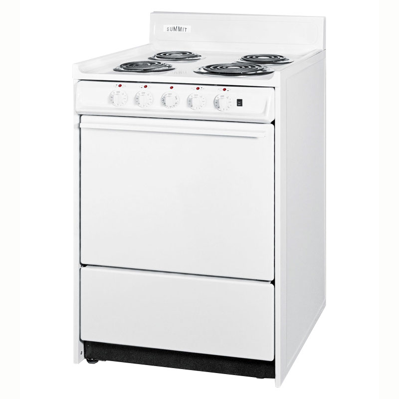 Summit WEM6171Q Coil Element Electric Range Broiler in Oven White Restaurant Supply