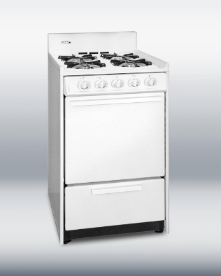 Summit WNM110 Open Burner Gas Range Below Oven Broiler White LP Restaurant Supply
