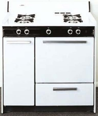 Summit Refrigeration WNM4307 NG Range w/ Electronic Ignition, 2-Oven Racks & 2-Shelf Storage