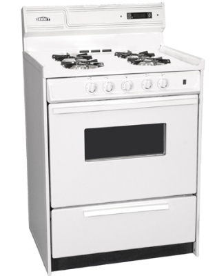 Summit Refrigeration WNM6307KW NG 24-in Deluxe Range w/ Electronic Ignition, Digital Clock &