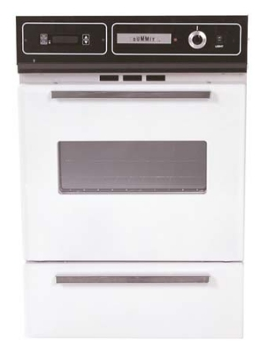 Summit Refrigeration WTM7212KW NG Wall Oven w/ Electronic Ignition, Digital Clock & Oven Window, White, NG