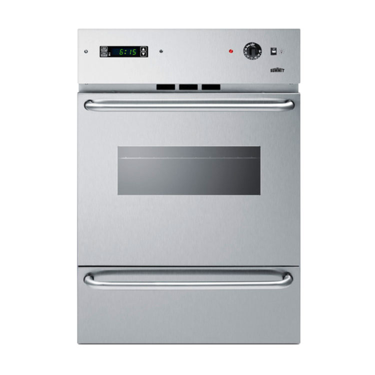 "Summit Refrigeration WTM7212KWSS 24"" Gas Wall Oven - Lower Broiler, Electronic Ignition, Stainless"