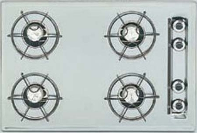 Summit Refrigeration ZTL053 30-in Cooktop w/ Electronic Ignition, Universal Valves & 3.75x29.75x20-in, Brushed