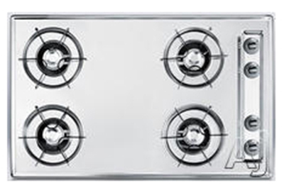"Summit Refrigeration ZTL05P 30"" Built In Gas Cooktop - Scratch Resistant Surface, Open Burner"
