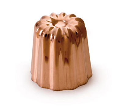 Mauviel 4180.55 2-in Round M'passion Canele Mold w/ Tinned Interior, Copper
