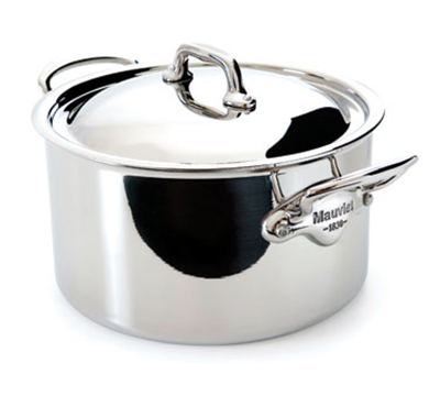 Mauviel 5231.29 11-in Round M'cook Stew Pan w/ 9.1-qt Capacity & Handles, Lid, Stainless